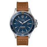 Timex Herren Analoger Quarz Uhr mit Echtes Leder Armband TW4B15000 - 1