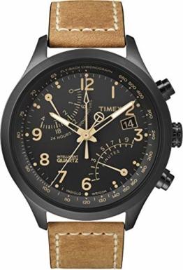 Timex Herren-Armbanduhr XL T-Series Fly-Back Chronograph Analog LederT2N700D7 - 1