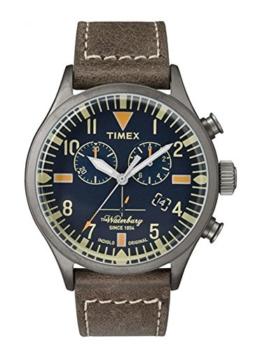 Timex Herren Chronograph Quarz Uhr mit Leder Armband TW2P84100 - 1