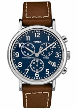 Timex Herren Chronograph Quarz Uhr mit Leder Armband TW2R42600 - 1