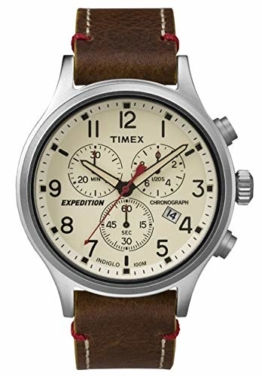 Timex Herren Chronograph Quarz Uhr mit Leder Armband TW4B04300 - 1