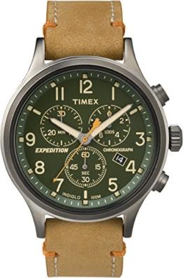 Timex Herren Chronograph Quarz Uhr mit Leder Armband TW4B04400 - 1