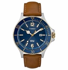 Timex TW2R64500 Herren-Armbanduhr Analog Quarz Leder - 1
