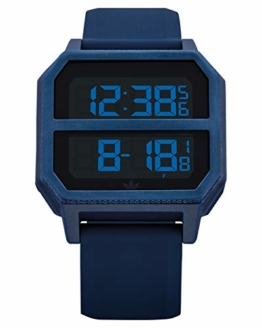 Adidas by Nixon Unisex– Erwachsene Digital Quarz Uhr mit Kunststoff Armband Z16-605-00 - 1