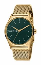 Esprit Herren Analog Quarz Uhr mit Edelstahl Armband ES1G034M0075 - 1