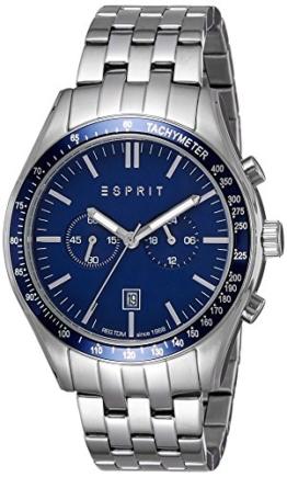 Esprit Herren Chronograph Quarz Uhr mit Edelstahl Armband ES108241006 - 1