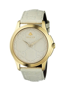 Gucci Damen Datum klassisch Quarz Uhr mit Leder Armband YA1264033 - 1