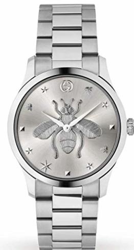 Gucci Unisex Uhr Stahl MIT Biene auf dem ZIFFERBLATT YA1264126 - 1