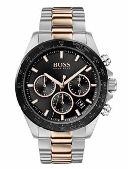 Hugo Boss Herren Chronograph Quartz Uhr mit Edelstahl Armband 1513757 - 1
