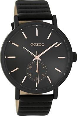 Oozoo Damenuhr mit Lederband 42 MM Schwarz/Schwarz C9189 - 1