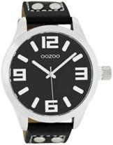 Oozoo Damenuhr mit Lederband 46 MM Schwarz/Schwarz C1054 - 1