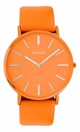 Oozoo Vintage Damenuhr Colors of The Summer mit Lederband Flach 40 MM Orange C9886 - 1