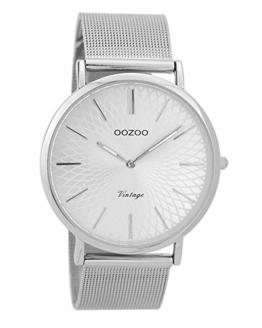 Oozoo Vintage Damenuhr Metallband 40 MM Silberfarben/Silberfarben C9340 - 1