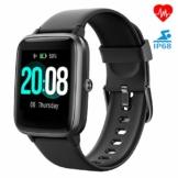 Smartwatch, LIFEBEE Fitness Armband Fitness Tracker Voller Touch Screen Smart Watch IP68 Wasserdicht Fitness Uhr mit Pulsuhren Schrittzähler Damen Herren Armbanduhr Sportuhr für iOS Android - 1