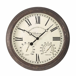 Bickerton Wanduhr & Thermometer 38,1cm - 1