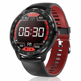 CanMixs Smartwatch Fitness Armband, Voller Touch Screen Fitness Tracker Uhr mit Wasserdicht IP67, CM13 Bluetooth Smart Watch Sportuhr mit Schrittzähler Pulsuhren Stoppuhr für Damen Herren iOS Android - 1