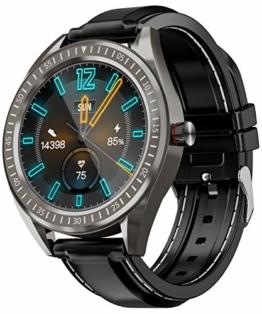COULAX SmartWatch, GPS Uhr mit 1.3 Zoll Touch Farbdisplay, Herzfrequenz Fitness Armbanduhr, IP68 wasserdichte Sportuhr mit Schrittzähler Schlafmonitor SMS SNS Erinnerung, Stoppuhr für Damen Herren - 1