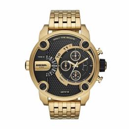 Diesel Herren Analog Quarz Uhr mit Edelstahl Armband DZ7412 - 1