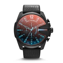 Diesel Herren Chronograph Quarz Uhr mit Leder Armband DZ4323 - 1