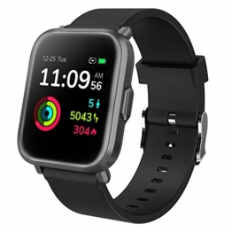 GRDE Smartwatch Bluetooth Fitness Tracker 1.3'' Voll Touchscreen Smartwatch Damen Herren 5ATM Wasserdicht Aktivitätstracker mit NEU Herzfrequenzmesser SpO2 Schlafmonitor Musiksteuerung DIY Hintergrund - 1