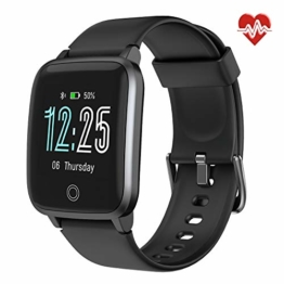 LETSCOM General Smartwatch ID205S, Schwarz, ONE Size - 1
