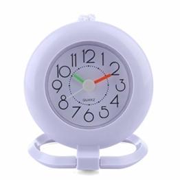MAJOZ Wanduhr, Badezimmer wasserdicht Wanduhr Uhr Nicht-Tickende Badezimmeruhr, Mini Nette Design wasserdichte Uhr für das Bad, 12x 9,5 x 15CM - 1