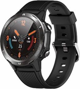 Orit Smartwatch Bluetooth v5.0 5ATM Wasserdicht Fitness Tracker Armband Aktivitätstracker mit Schrittzähler Stoppuhr Pulsuhren Schlafmonitor für iOS Android phone für Damen Herren Smartwatch Sport - 1