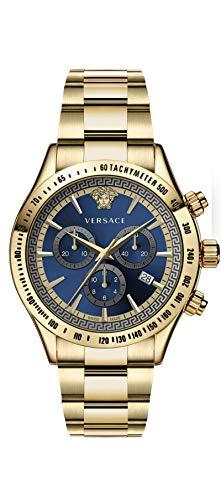 Versace Herren Analog Quarz Uhr mit Edelstahl Armband VEV7006 19 - 1