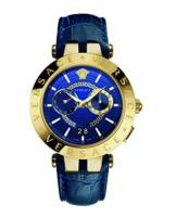 Versace Herren Analog Quarz Uhr mit Leder Armband VEBV002 19 - 1