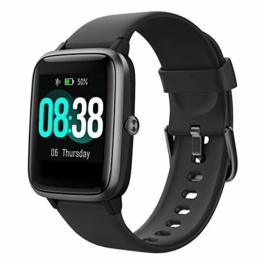YONMIG Smartwatch, Fitness Armband Tracker Voller Touch Screen Uhr Pulsmesser Wasserdicht IP68 Armbanduhr Smart Watch mit Schrittzähler Stoppuhr Bluetooth Sportuhr für iOS Android Damen Herren - 1