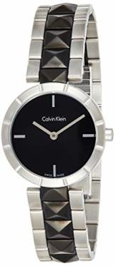 Calvin Klein Damen Analog Quarz Uhr mit Edelstahl Armband K5T33C41 - 1