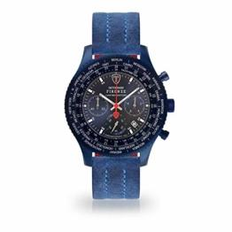 DETOMASO Firenze XXL All Blue Limited Edition Herren-Armbanduhr Chronograph Analog Quarz Blaues Edelstahl-Gehäuse Blaues Zifferblatt - 1
