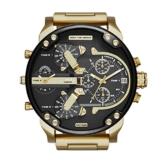 Diesel Herren Analog Quarz Uhr mit Edelstahl Armband DZ7333 - 1