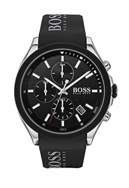 Hugo Boss Herren Chronograph Quartz Uhr mit Silikon Armband 1513716 - 1
