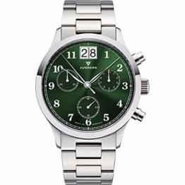 Junkers Tante JU Analog Quarz Uhr Edelstahlarmband Saphirglas grün 9.23.01.06.M - 1