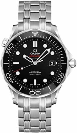 Omega seamaster 41mm schwarzes Zifferblatt Herrenuhr 212.30.41.20.01.003 - 1