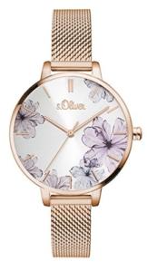 s.Oliver Damen Analog Quarz Armbanduhr SO-3524-MQ - 1