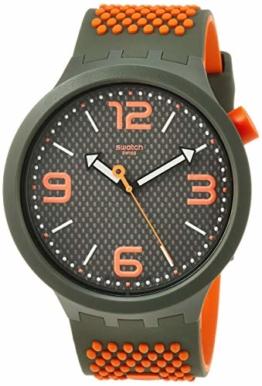 Swatch Herren Analog Quarz Uhr mit Silikon Armband SO27M101 - 1