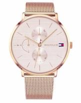 Tommy Hilfiger Damen Multi Zifferblatt Quarz Uhr mit Roségold Armband 1781944 - 1