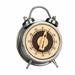 E-More Küchentimer, 60 Minuten Mechanisch Kein Akku erforderlich Countdown Timer Küchenuhr Visueller Analoger Timer, Uhrendesign, Edelstahl, zum Kochen, Lernen, Trainieren - 1