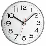 TFA Dostmann Analoge Wanduhr, Kunststoff, Weiß, (L) 280 x (B) 40 x (H) 280 mm - 1