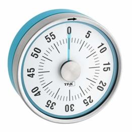 TFA Dostmann Puck Küchentimer, Eieruhr magnetisch, Timer, mit Restzeit-Anzeige, 0-60 Minuten, türkis, 38.1028.20 - 1
