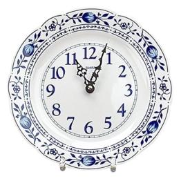 Zwiebelmuster Triptis Wanduhr Küchenuhr Uhr, Thüringer Porzellan, ca. 23.5 x 3 cm, 1 Stück - 1