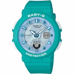 Baby-G Damen Analog-Digital Quarz Uhr mit Harz Armband BGA-250-2AER - 1