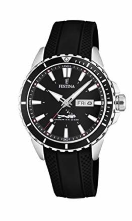 Festina Herren Analog Quarz Uhr mit PU Armband F20378/1 - 1