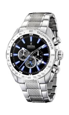 Festina Herren Chronograph Quarz Uhr mit Edelstahl Armband F16488/3 - 1