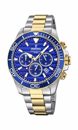 Festina Herren Chronograph Quarz Uhr mit Edelstahl Armband F20363/2 - 1