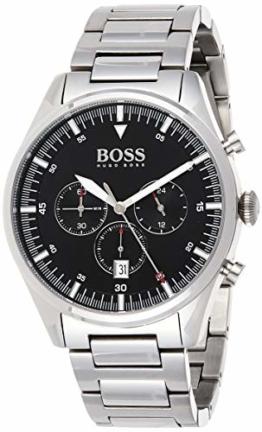 Hugo Boss Herren Chronograph Quartz Uhr mit Edelstahl Armband 1513712 - 1