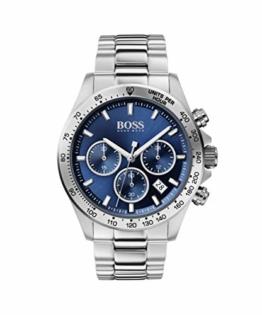 Hugo Boss Herren Chronograph Quartz Uhr mit Edelstahl Armband 1513755 - 1
