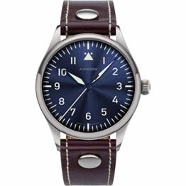 Junkers Baumuster Analog Quarz Uhr Lederarmband Saphirglas blau 9.20.01.01 - 1